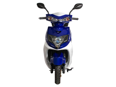 X-Treme Cabo Cruiser Elite 600W Moped Electric Bicycle Scooter Blue Front