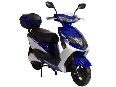 X-Treme Cabo Cruiser Elite 600W Moped Electric Bicycle Scooter Blue Side