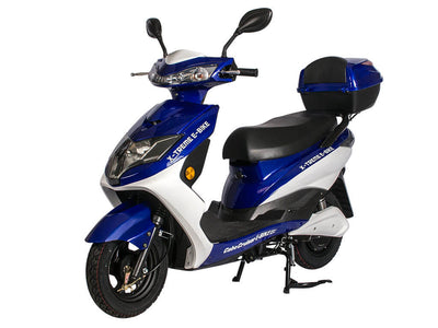 X-Treme Cabo Cruiser Elite 600W Moped Electric Bicycle Scooter Blue Side 2