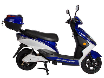 X-Treme Cabo Cruiser Elite 600W Moped Electric Bicycle Scooter Blue