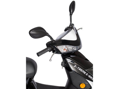 X-Treme Cabo Cruiser Elite 600W Moped Electric Bicycle Scooter Black Handlebar