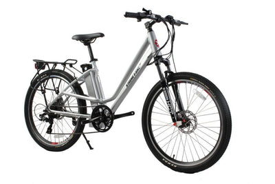 X-Treme Trail Climber Elite Max 36 Volt Step-Through Electric Mountain Bicycle Aluminum Side 2