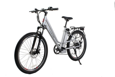 X-Treme Trail Climber Elite Max 36 Volt Step-Through Electric Mountain Bicycle Aluminum Side 1