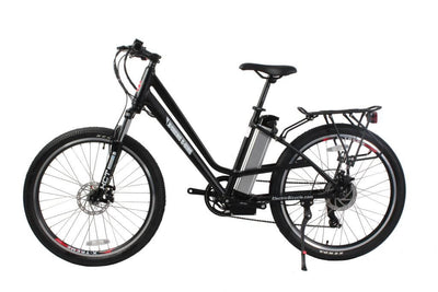 X-Treme Trail Climber Elite Max 36 Volt Step-Through Electric Mountain Bicycle Black 2