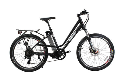 X-Treme Trail Climber Elite Max 36 Volt Step-Through Electric Mountain Bicycle Black
