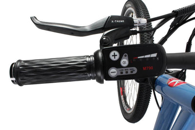 X-Treme Trail Climber Elite Max 36 Volt Step-Through Electric Mountain Bicycle Left Handlebar Display