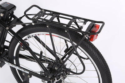 X-Treme Trail Climber Elite Max 36 Volt Step-Through Electric Mountain Bicycle Rear Rack