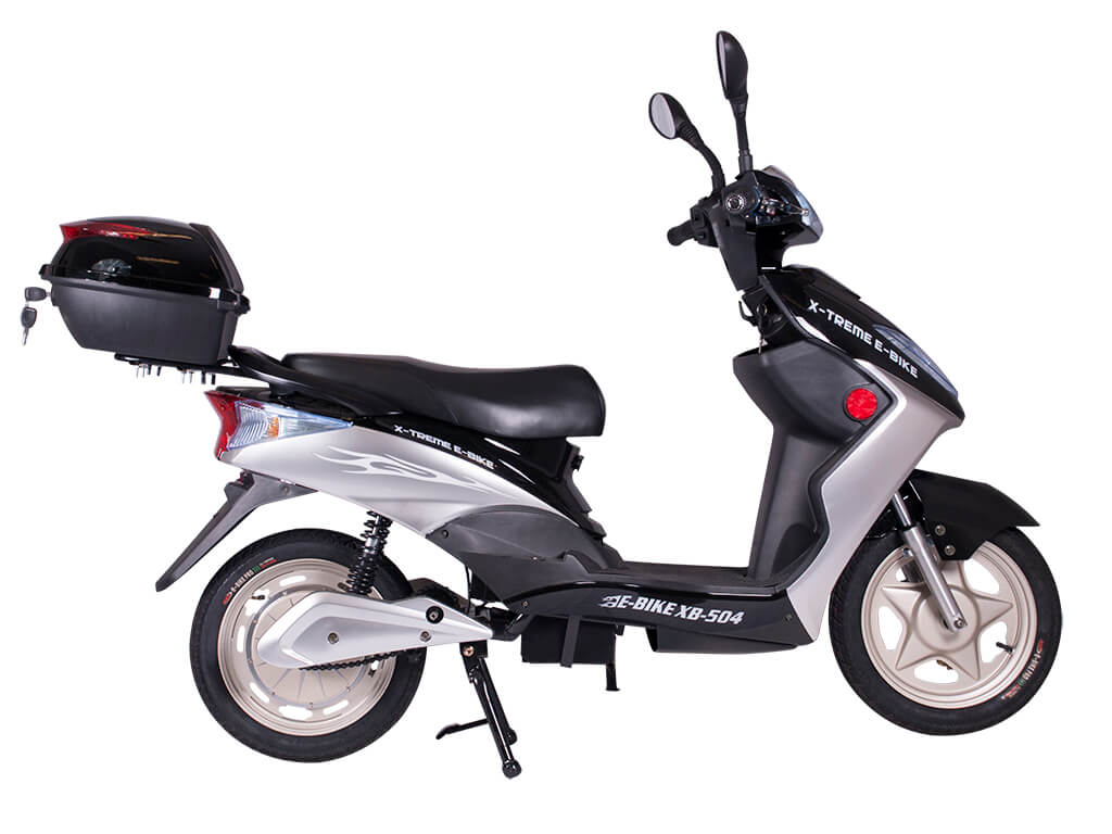 X-Treme XB-504 500W Moped Electric Bicycle Scooter Black