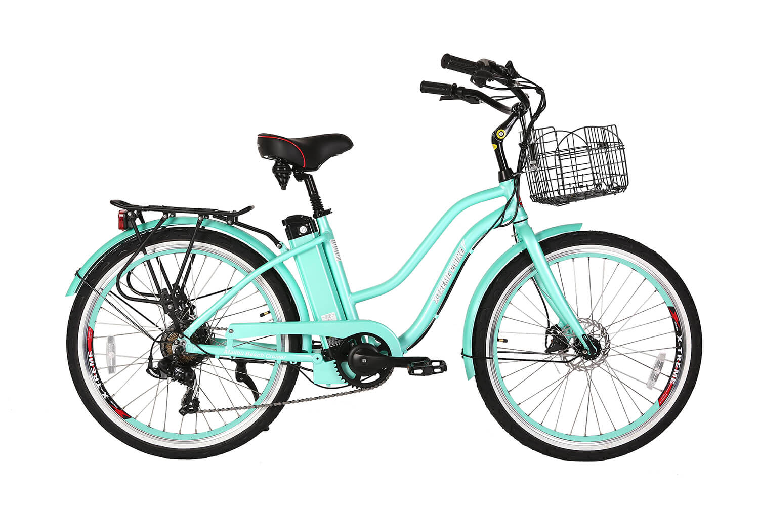 X-Treme Malibu Elite 24 Volt Beach Cruiser Electric Bike