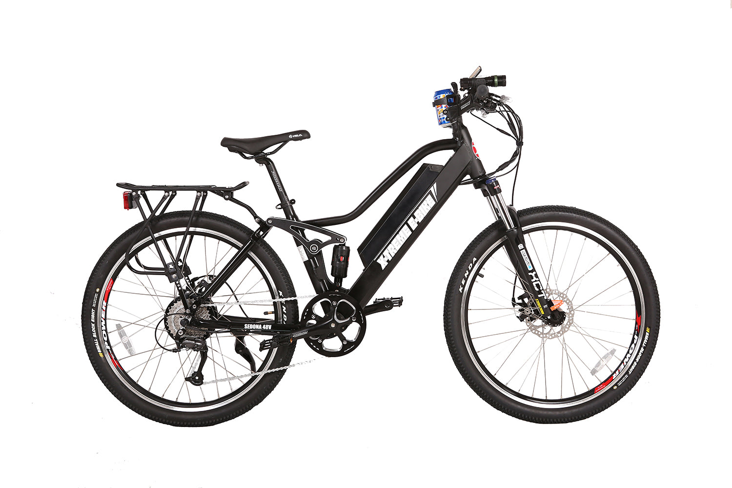 X-Treme Sedona 48 Volt Step-Through Electric Mountain Bicycle Black