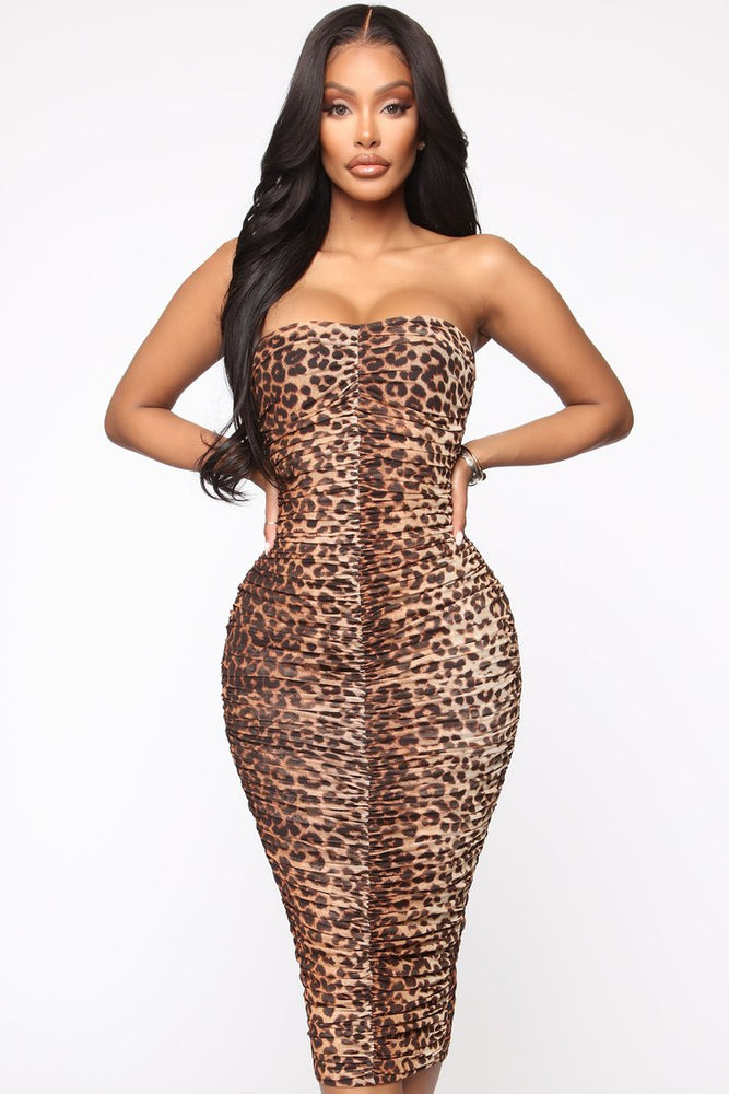 Out To Get You Ruched Midi Dress