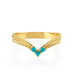 Ally Ring 14K Yellow Gold - Axariya's Closet