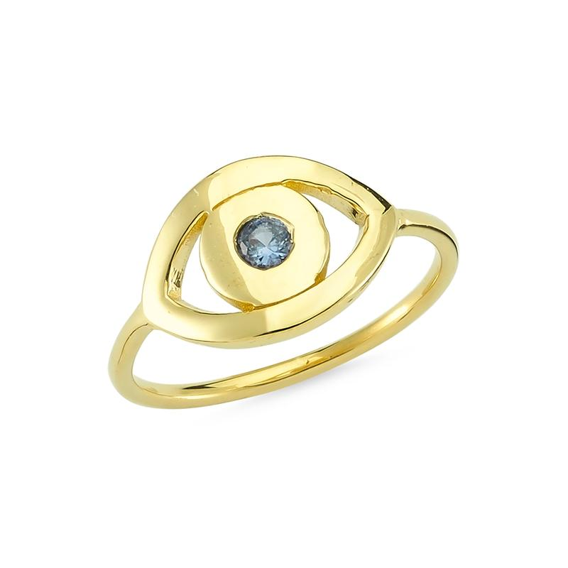 Sestra Eye 14K Yellow Gold - Axariya's Closet