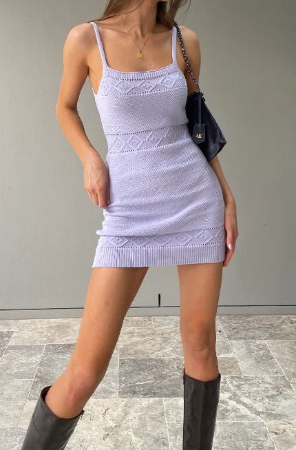 ROSE KNIT DRESS - Axariya's Closet