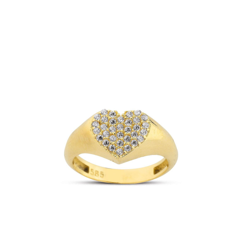 Harmony Heart 14K Yellow Gold - Axariya's Closet