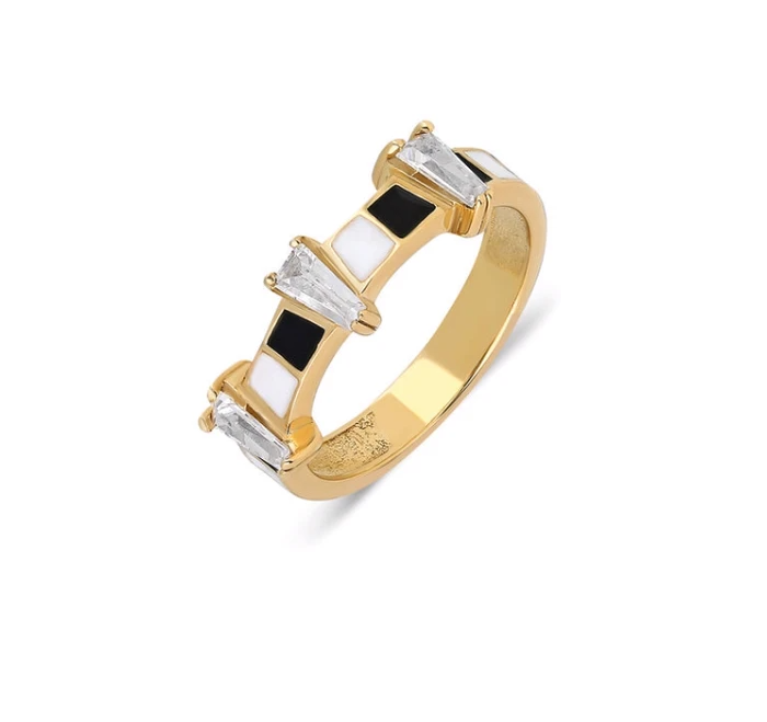 Midnight Trapez 14K Yellow Gold - Axariya's Closet