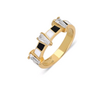 Midnight Trapez 14K Yellow Gold