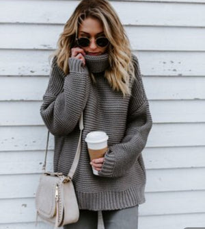 Cozy up with me Cotton Sweater - Axariya's Closet