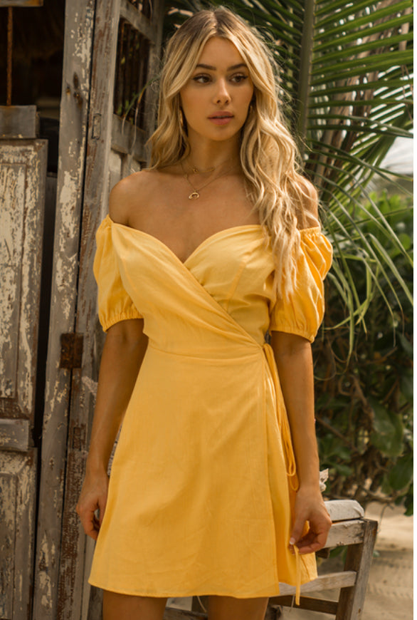 Falling in Love Short Sleeve Sweetheart Dress