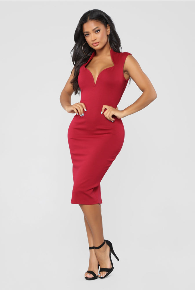 Black Bodycon Midi Dress - Axariya's Closet