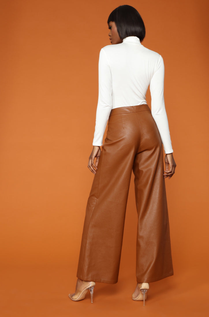 Viola Faux Leather Trousers