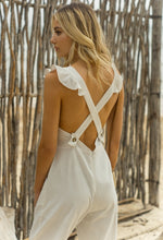 First Kiss White Ruffled Jumpsuit - Axariya's Closet