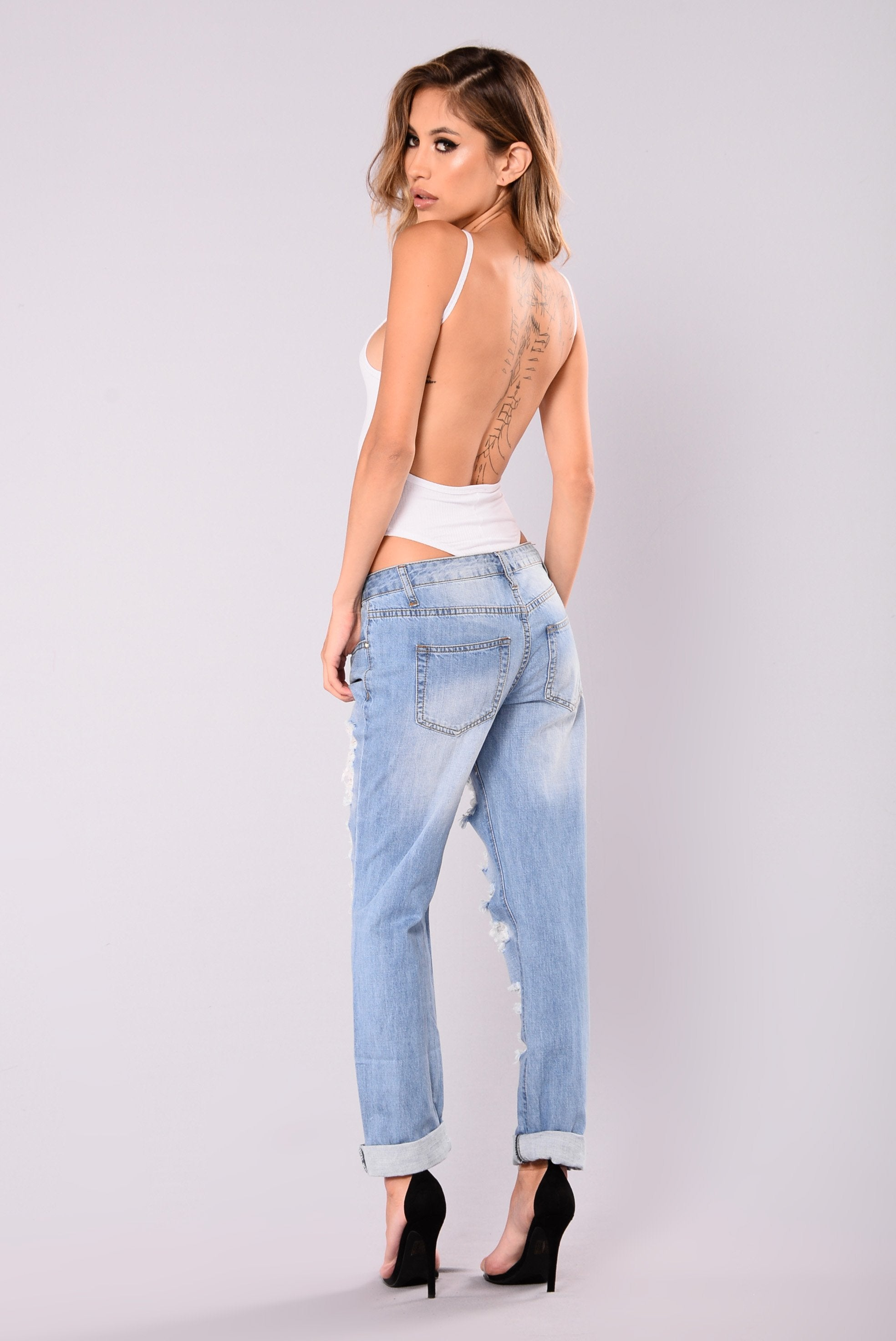 Whitney Distressed Boyfriend Jeans