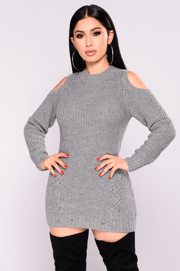 Natalia Cold Shoulder Sweater