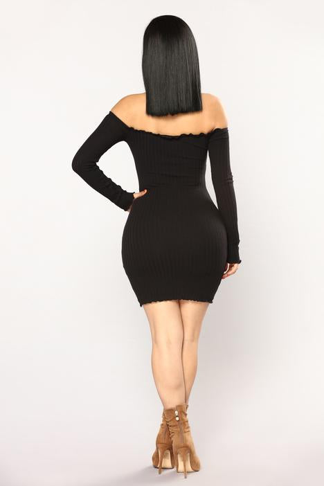 Jacklyn Off Shoulder Mini Dress