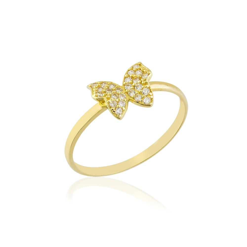 Butterfly Ring 14K Yellow Gold - Axariya's Closet
