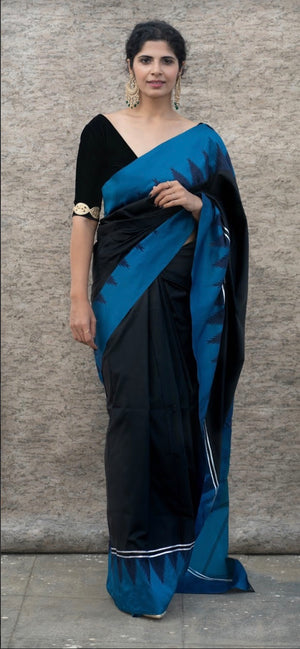 Neela Midnight Saree - Axariya's Closet