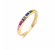 Lights Of Rainbow 14K Yellow Gold - Axariya's Closet