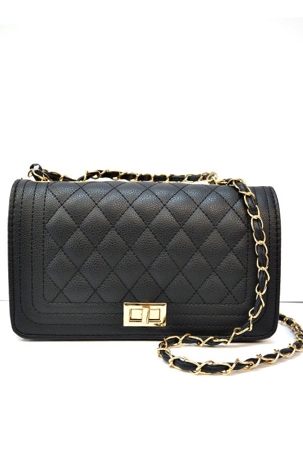 Audrey Quilted Purse in Black