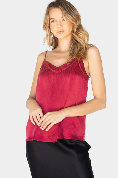 Tasha Tank Top in Cranberry