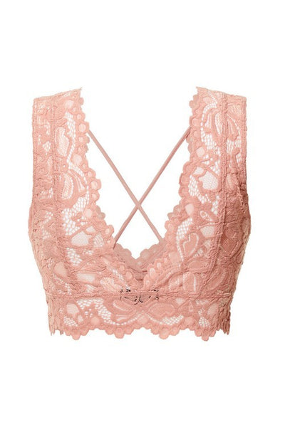 Love Yourself Lace Bralette in Mauve