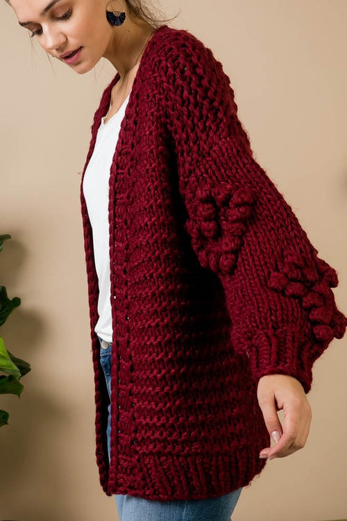 Heart You Burgundy Cardigan