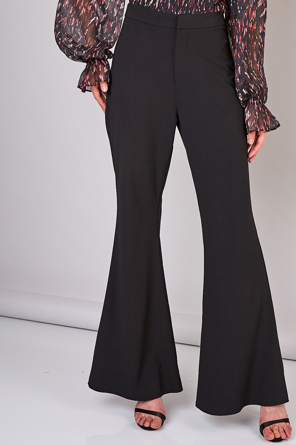 Business or Pleasure Black Flared Pants
