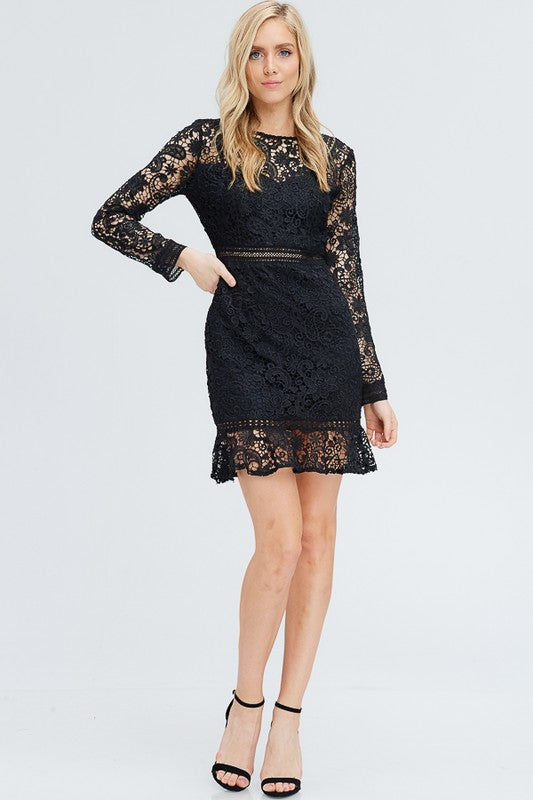 Sophisticated Chic Crochet Dress Mary Mak