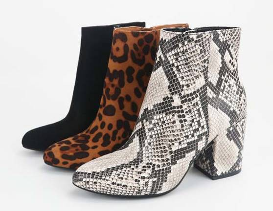 City Views Snake Print Booties
