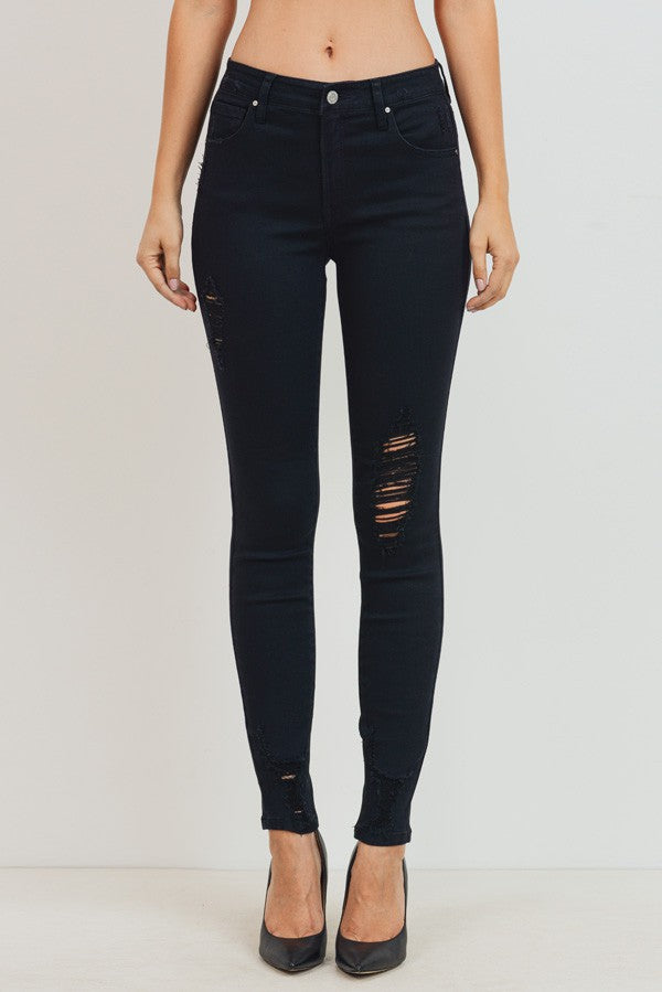 Miami Black Distressed Jeans