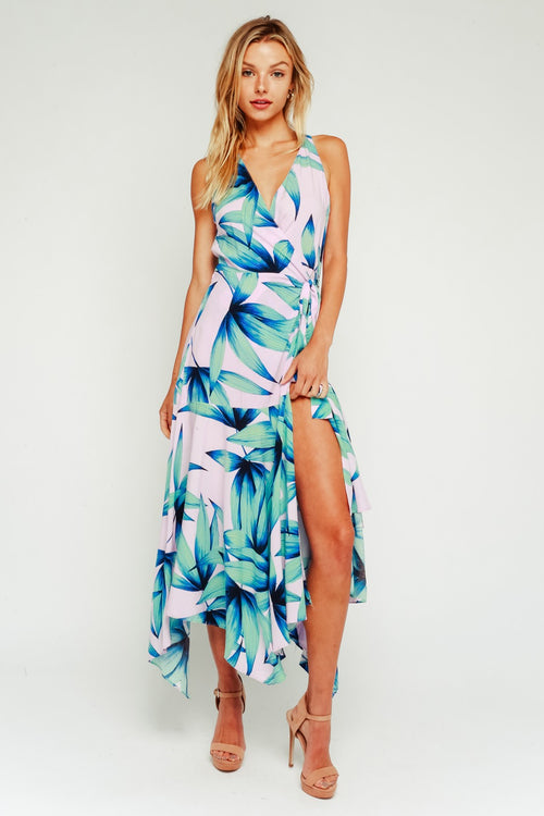 Unforgettable Palm Maxi Dress