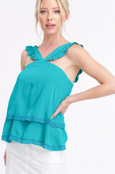 Delightfully Bright Emerald Top