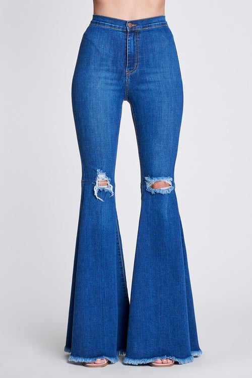 West Coast Ripped Flare Jeans