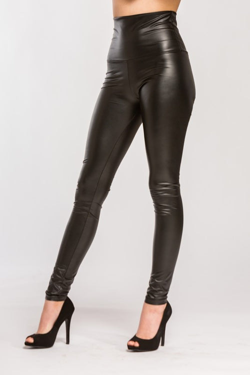 Style Savvy High Waist Faux Leather Leggings