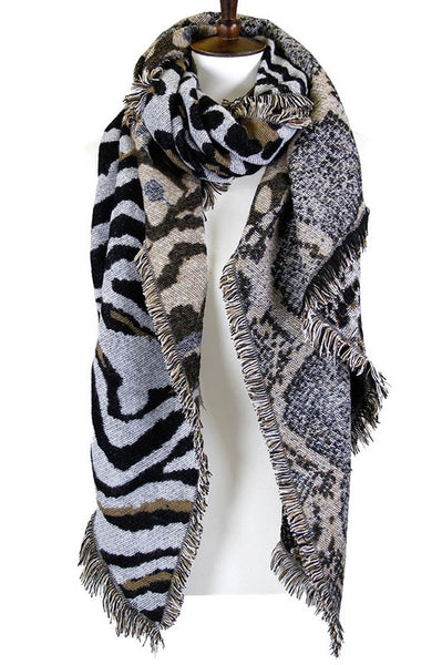 Angela Animal Print Scarves