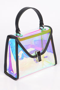 Supernova Reflective Clear Clutch