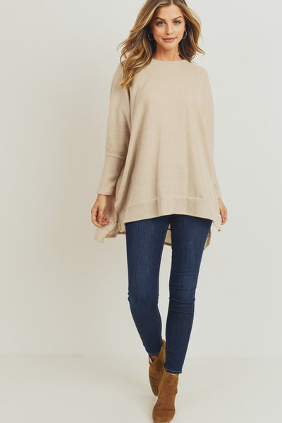 Cassidy Soft Sweater Top in Oatmeal