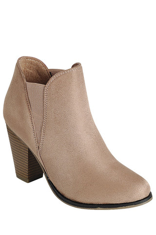 Camille Booties in Dusty Pink