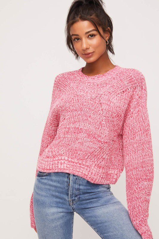 Sweet As Candy Pink Sweater