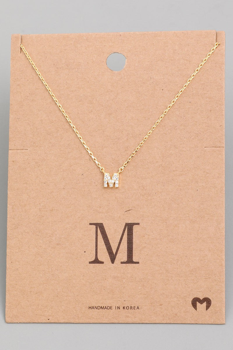 Gold Mini Initial Necklaces Letters L-Z